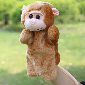 Pais de pelúcia mão fantoche do macaco boneca Crianças Brinquedos Educativos Macaco Plush Velour Animais Criança presentes de jogo para crianças de brinquedo