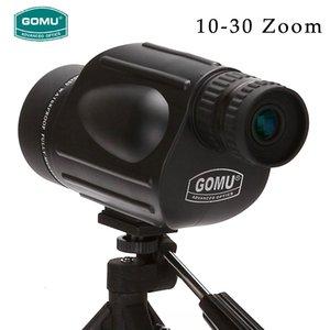 Nuovo arrivo 10-30X50 HD zoom telescopio impermeabile FMC telescopio monoculare indetto pe Guardare i binocoli per la caccia libera il trasporto T191022
