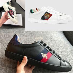 2019 Designer di lusso Basso Top Italia Marca Ace Bee Stripes Scarpa Uomo Donna Sneaker Scarpe casual Camminate Sport Sneakers Chaussures Pour Hommes