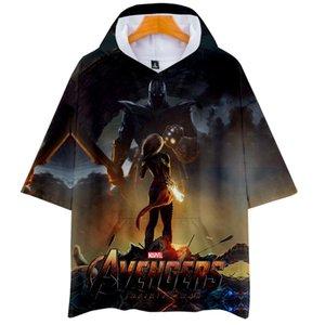 Avengers 4 Endgame 3D Print Herren Damen Pullover Kapuzen T-Shirt Streetwear Herren Designer T Shirts Sommer Kurzarm Cool Tops