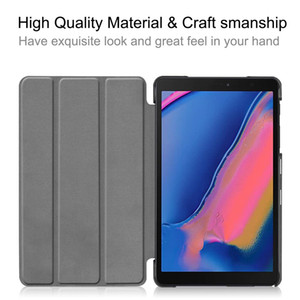 For Galaxy Tab S4 10.5 T830 835 Flip Cover Ultra Slim Magnetic Tri-fold Stand Cover with Corner Protection Hard Shell Folio Case