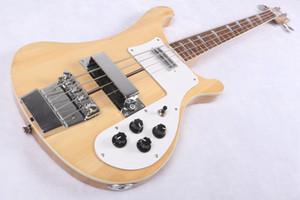 Özel RIC 4 Strings bas Trans doğal sarı 4003 Elektrik Bas Gitar Boyun Gövde Tek PC Boyun Vücut Çin Gitar