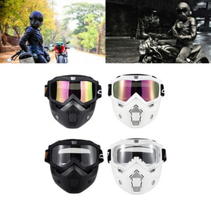 Removable Cycling Goggles Mask Motorcycle Helmet BSD0901 Motorcross Helmet Goggles Windproof Helmets Glasses Mask