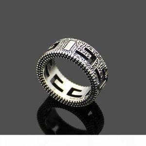 Стерлингового серебра кольцо мужчины полые широкие S925silver кольца старинные партии 3D кольца
