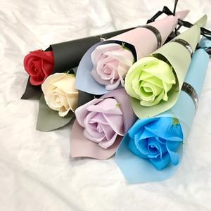 Sabun Çiçek Gül Yapay Buketi Karanfil Çok renkli Gül Düğün Dekorasyon Scrapbooking Sahte Sevgililer Günü Anneler Günü Gül Çiçek