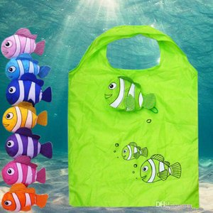 Hot-selling New Many Colors Tropical Fish Plegable Eco Reutilizable Shopping Bags 38cm X58cm Bags, Luggages Accessories Wholesales