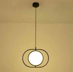 Moderna ruotabile LED lampadario luce del pendente anello Nordic Home Living Room Decor lampada di illuminazione Fxiture LLFA