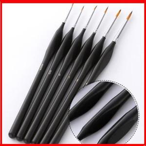 2019 6 Pcs / Set de desenho Paint Brush Belas pintada à mão fina gancho Linha Pen Nylon pincel de pintura Pintura Pen Oil
