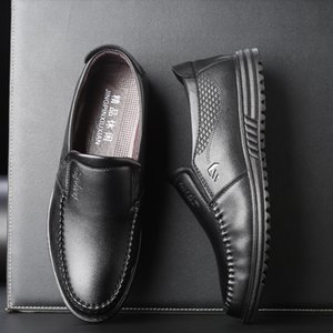 Men's Leather Flats Shoes 2019 Men Business Loafers Soft Driving Shoes Casual Man Sneakers zapatos de hombre Office Flats