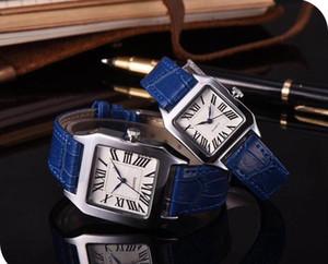 Étanche Lumineux Montre-Bracelet montre homme simple carré Hommes Femmes De Luxe Montres Top Marque Casual Rome numéros Montres Pour Hommes Femmes