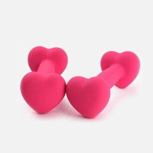 Presente para sua namorada Heart-Shaped Dumbbell Gym Equipment Dumbbell Mulher Girl Home Exercício Dumbbells 1 kg 1Pc Dumbbells