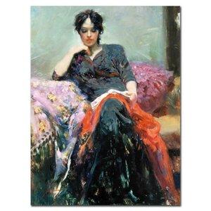 """Pino """"Seu Livro favorito"""" Home Decor pintado à mão HD cópia da pintura a óleo sobre tela Wall Art Canvas Pictures 200624"""