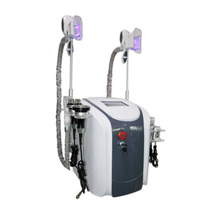 5in1 жира замораживания сокращение машина талии для похудения кавитации РФ машина жира липо лазер 2 морозильные головки могут работать одновременно