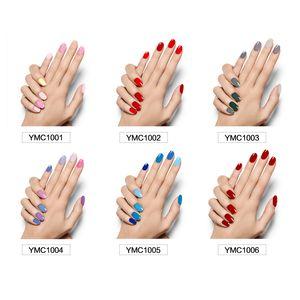 22 couleurs Nail Art Décorations solide autocollant 1 jeu 16pcs autocollants Cool Nail Nail Stickers pour les ongles de beauté pour les femmes enceintes non toxique autocollant Wom