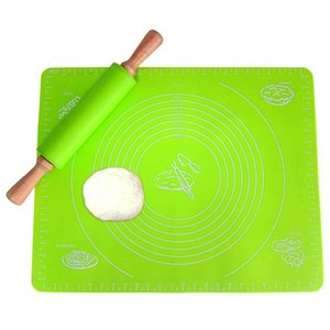 Large Size 50*40 with Scale Silicone Pad Knead Dough and Roll Out Mat Antislip Easy Cleaning Bake Pad HighTtemperature Resistant Bake Mat