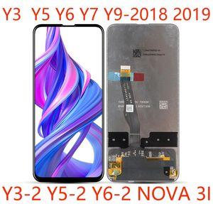 paneles de montaje 50pcs de alta calidad Teléfono móvil LCD de pantalla táctil para Huawei Y3 Y5 Y6 Y7 Y9 2017 2018 2019 Nova 3i reparación y sustitución de DHL
