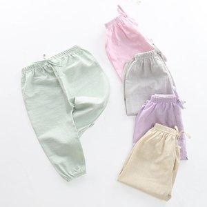 Famli Çocuk Anti Mosquito Pantolon İlkbahar Yaz Bebek Klima Pantolon Erkekler ve Kızlar Fener Bebek Casual