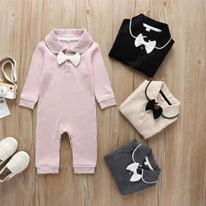 봄 아기 소년과 소녀 활 장난 꾸러기 신생아면 junpsuits 4 개 색 부티크 아이 디자이너 옷