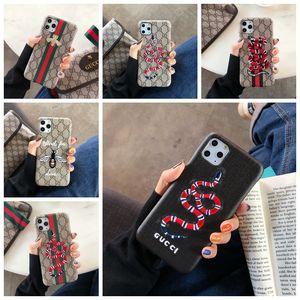 Marque Modèle Téléphone Case pour iPhone 11 11 pro max X Xs Xr Max 6 6s 7 8 plus créatif couverture arrière avec broderie Serpent Bee Planète A17