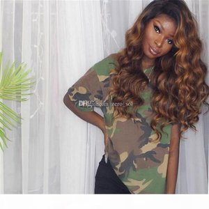 150 High Density 1B #30 Ombre Full Lace Wigs Human Hair Two Tone With Baby Hair Glueless Full Lace Wigs Brazilian For Women