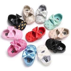 뜨거운 판매 0-1 년 아기 공주 신발 유아 9 색 후크 첫 워커 무료 배송 wholsale
