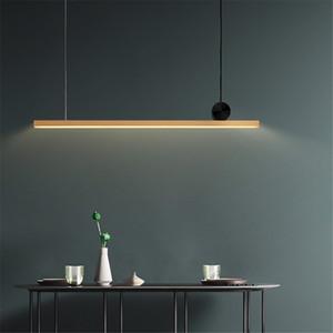 Striscia di Copper Modern Pendant LED Rettangolo Luce Brass Casa Soggiorno Camera da letto Lampada da soffitto Ufficio luce PA0283