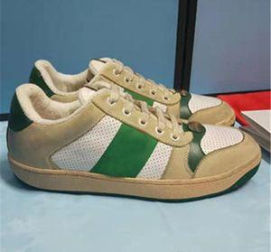 Art und Weise Mens Designer Schuhe weiß schwarz Jacquard-Streifen Ace High-Top mit grünen und roten Web schmutzig Sneaker für Männer Frauen