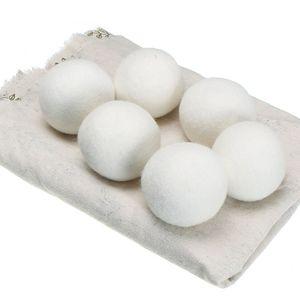 كرات الصوف مجفف قسط قابلة لإعادة الاستخدام النسيج الطبيعي المنقي 2.76 بوصة ثابت يقلل يساعد الملابس الجافة العملية نظيفة الكرة في الغسيل أسرع