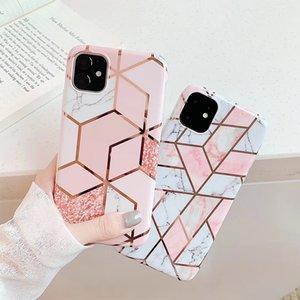 Yüksek Kaliteli Rose Gold TPU Silikon Yumuşak Hibrid Kaya Granit Kromlu Lux Tasarımcı Cep Telefonu Kılıfları Iphone 11 Pr