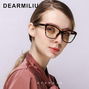 Gözlük Retro Düz Ayna Okuma Bilgisayar Gözlükler Gafas De Lectura Okulary Engelleme DEARMILIU 2020 Yeni Kadın Mavi Işık