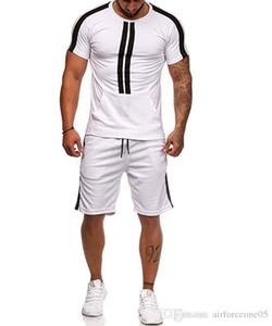 스포츠 티셔츠 반바지 2 개 의류 남성 여름 운동복 캐주얼 정장 디자이너 세트를 설정