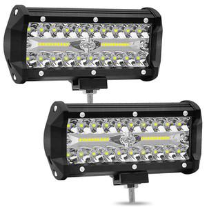7 polegadas de 120W Combo Led Light Work Bares Ponto Flood feixe 4x4 ponto 12V 24V 4WD Barra LED farol para auto Barcos SUV