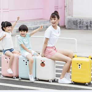 Xiaomi Youpin 18inch Lovely DIY Sticker Travel Suitcase TSA Lock Children Kid Trolley Carry On Luggage 3006735 3006736 3006737 3006738