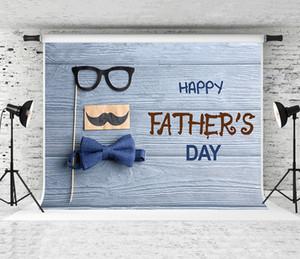 Rêve 7x5ft Bonne fête des pères Backdrop Bow Tie Décor Fond de Photographie en bois pour les pères Fête de vacances Pousse Backdrops studio Prop