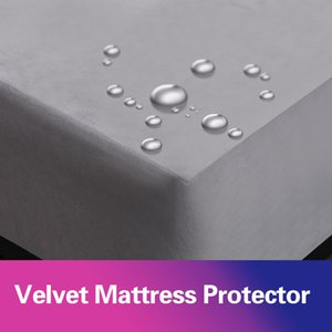 Velvet Waterproof Mattress Protector Super Soft Bed Sheet Anti Mite Mattress Cover Matress Protector Topper Single Bed