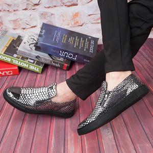 Кожаные мужские туфли для отдыха на толстой подошве Brit Lazy Shoes