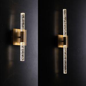 moderno bolha levou cristal Lâmpada de parede para sala de jantar cabeceira Champagne ouro arandela Lamp Luminaire Bathroom Light 110-240V