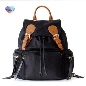 Nuleez backpack bag women portable oxford snd cowhide waterproof big capacity
