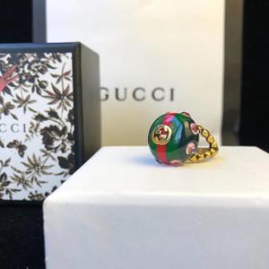 Fashion-Top Messingmaterial paris Design Harzteil Ring mit rosa Diamant verzieren Ring für Frauen und Mädchen Freund Schmuck Geschenk PS7624