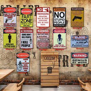 Attenzione Tin Pittura igienici Cucina Bagno Decor poster Bar Pub Cafe Attenzione retro metallo casa segno Ristorante Vintage Tin Signs BH2209 TQQ
