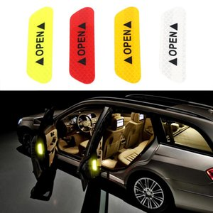 40pcs Car Door Stickers Warning Mark Reflective Tape Auto Exterior Accessories Open Sign Safety Reflective Strip Light Reflectors