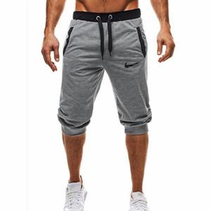 2019 тренажерный зал WINER фитнес короткий бег повседневная одежда тренировки Мужские шорты лето новая мода мужская повседневная колено длинные шорты