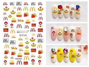 Os mais recentes Nail Art DIY Adesivos Decoração Esporte Logo Rose Gold prego etiqueta autoadesiva DIY Charme Dicas Voltar Glue etiqueta