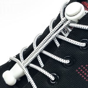 1 par sem gravata Lacing sistema Silicone cadarço elástico Cordão Locking Shoe Laces No Laço Rodada preguiçoso Calçados Acessórios F006