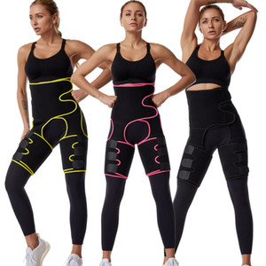 Néoprène Femmes Minceur Bande Sweat Body Jambe Shaper Taille High Taille Fat Court Courteuse Trimmer Corps Shaper