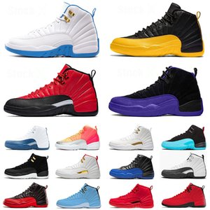 nike air jordan retro 12 12s XII Stock x JUMPMAN 23 DARK CONCOR Gold FIBA Gamma Blue BULLS Scarpe da basket da uomo Nuove sneakers size eur 47