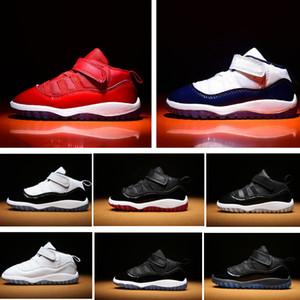 Tout-petits de minuit marine 11s infantile Sneakers Gamma Bleu Gym bébé rouge petites chaussures de basket-ball pour enfants 11 br NakeskinJordanchaussures Retros
