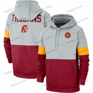 Erkek USC Trojans Rekabet Therma Performans Kazak Kapüşonlular 2020 Futbol University College Spor Sweatshirt Boyut S-4XL