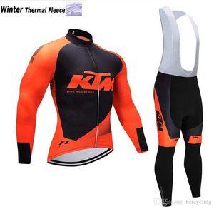 2018 termal polar bisiklet forması uzun kollu ve bisiklet önlüğü pantolon bisiklet kitleri kayış ciclismo bicicletas mtb spor giyim B19110202