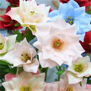 10pcs / lot Fake Flowers alta qualidade Decoração para Fontes do casamento Mais cores Artifical Flowers decorativa Coroas Atacado H223